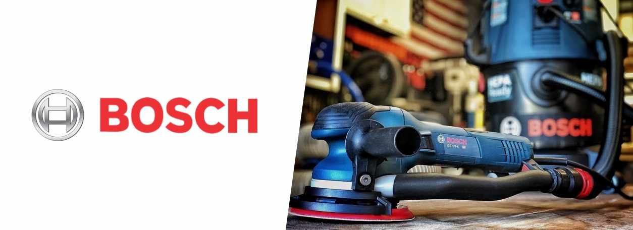 Bosch logo with Bosch power tools