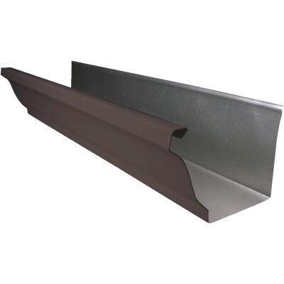 NorWesco 4 In. x 10 Ft. K-Style Brown Galvanized Gutter