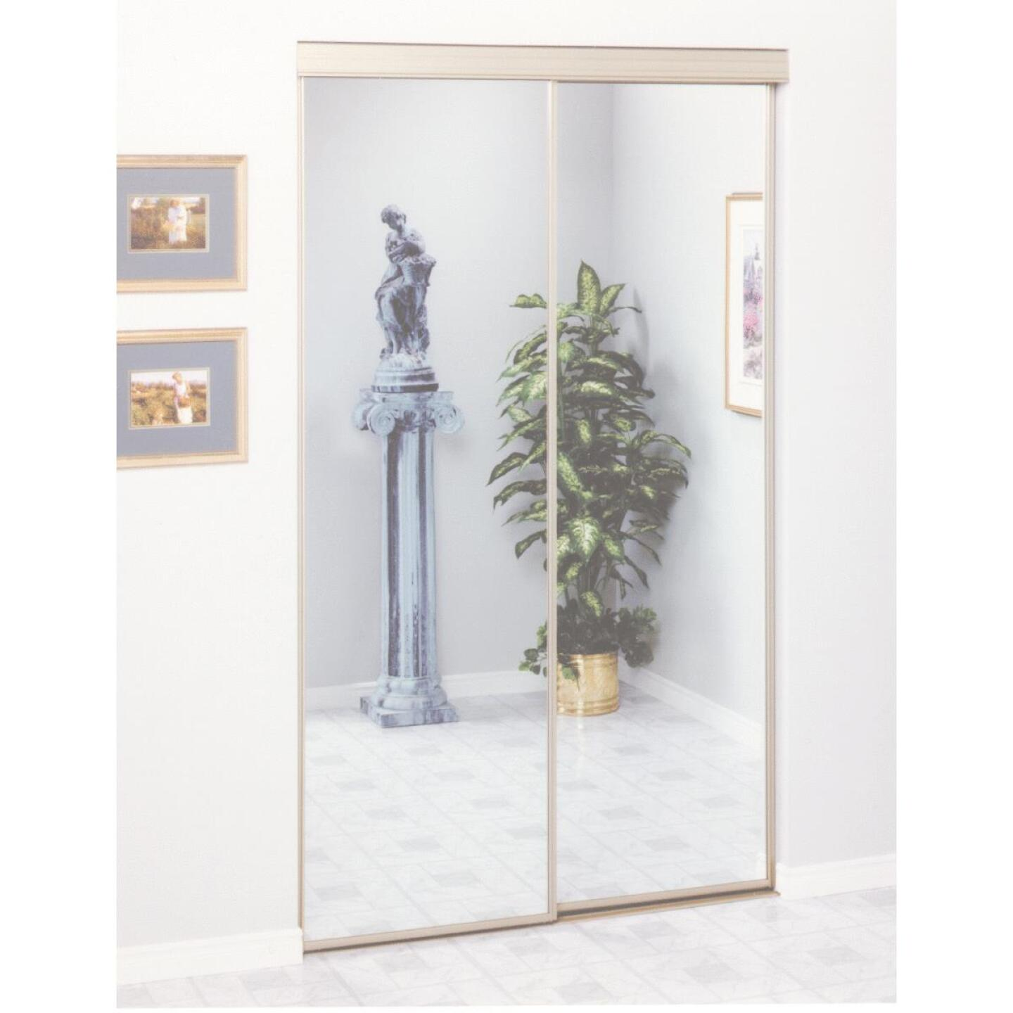 Erias 4050 Series 47 In. W. x 80-1/2 In. H. Mayan Gold Top Hung Mirrored Bypass Door Image 2