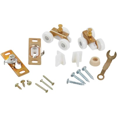 Johnson Hardware 1500 Series 36 In. W. Pocket Door Hardware Set