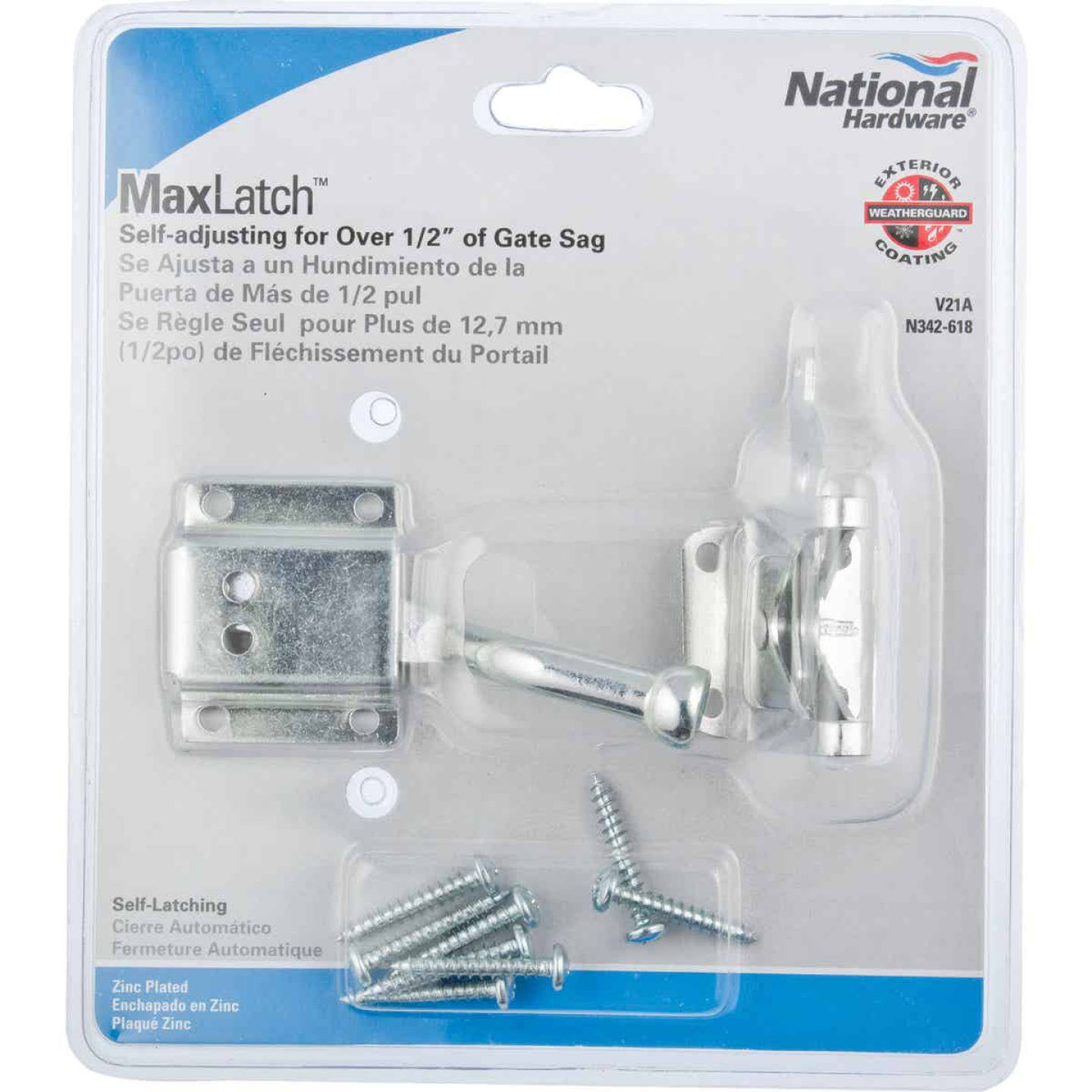 National 4 In. Zinc MaxLatch Sag Compensating Latch Image 2