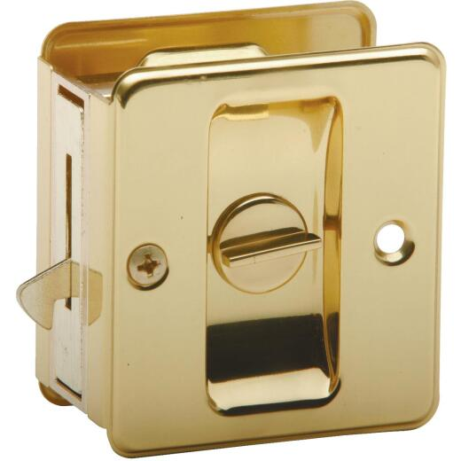 Schlage Privacy Polished Brass Pocket Door Lock Pull