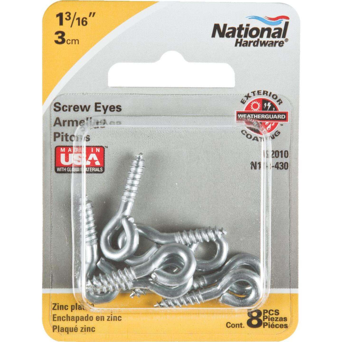 National #210 Zinc Small Screw Eye (8 Ct.) Image 2