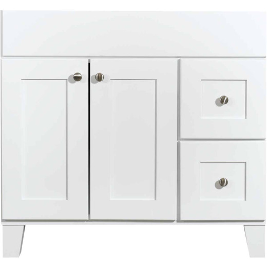 Bertch Osage White 36 In. W x 34-1/2 In. H x 21 In. D Vanity Base, 2 Door/2 Drawer