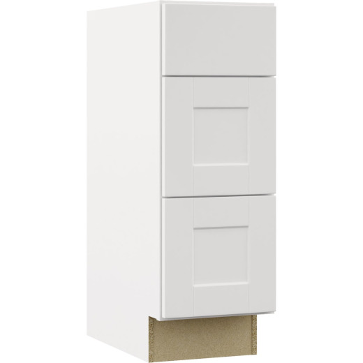 Continental Cabinets Andover Shaker 12 In. W x 34-1/2 In. H x 21 In. D White Drawer Vanity Base