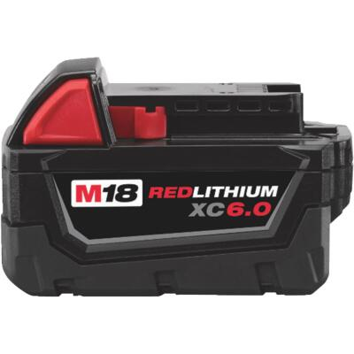 Milwaukee M18 REDLITHIUM XC 18 Volt Lithium-Ion 6.0 Ah Extended Capacity Tool Battery