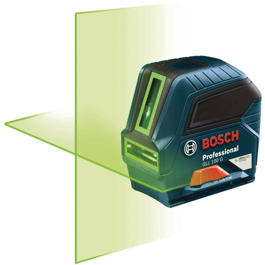 Bosch 100 Ft. Self-Leveling Green-Beam Cross-Line Laser Level