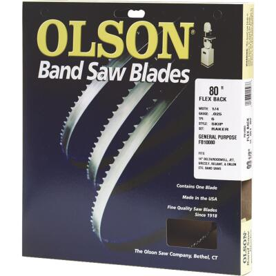 Olson 80 In. x 3/8 In. 4 TPI Skip Flex Back Band Saw Blade