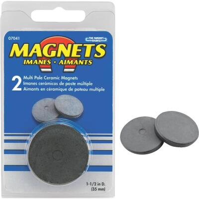 Master Magnetics 1-1/2 In. Multi Pole Ceramic Magnet Disc