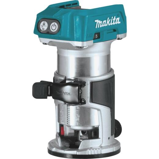 Makita 18 Volt LXT Lithium-Ion Brushless Compact Cordless Router (Bare Tool)