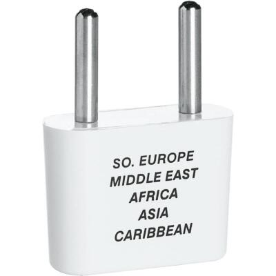 Franzus 2-Blade Thin Pin Foreign Adapter Plug, Europe/Africa/Middle East/Asia