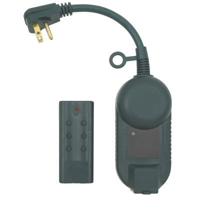 Do it 12.5A 120V 1500W Green Outdoor Timer with Remote