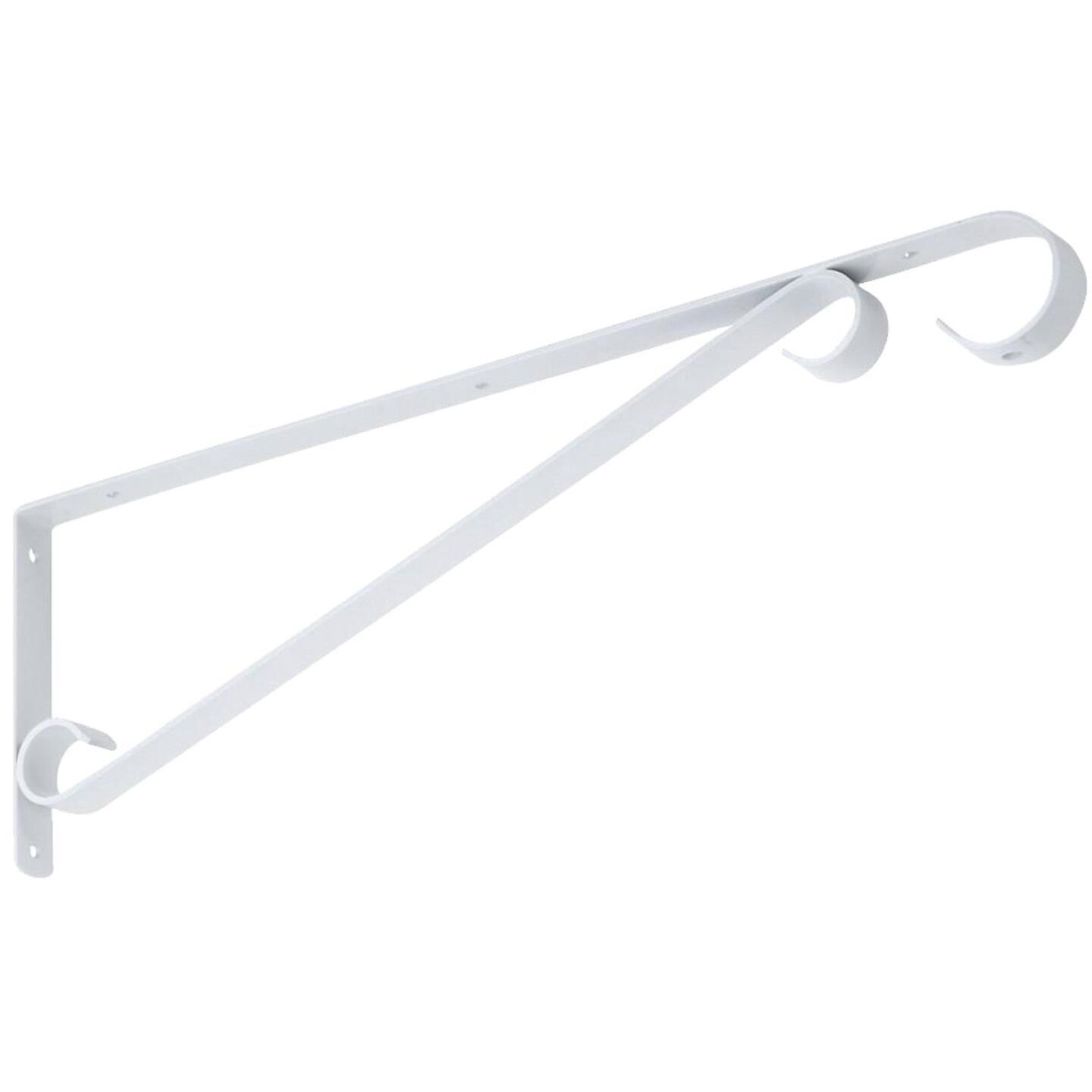 National 15 In. White Steel Hanging Plant Bracket Image 1