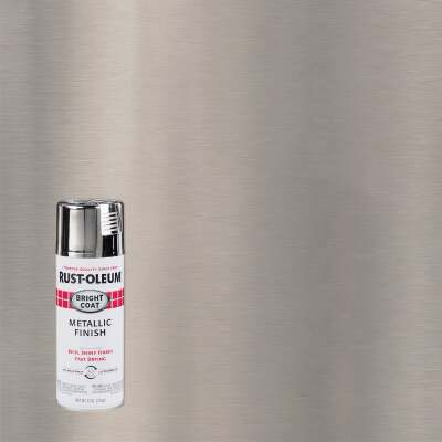 Rust-Oleum Bright Coat Chrome Metallic Gloss 11 Oz. Anti-Rust Spray Paint